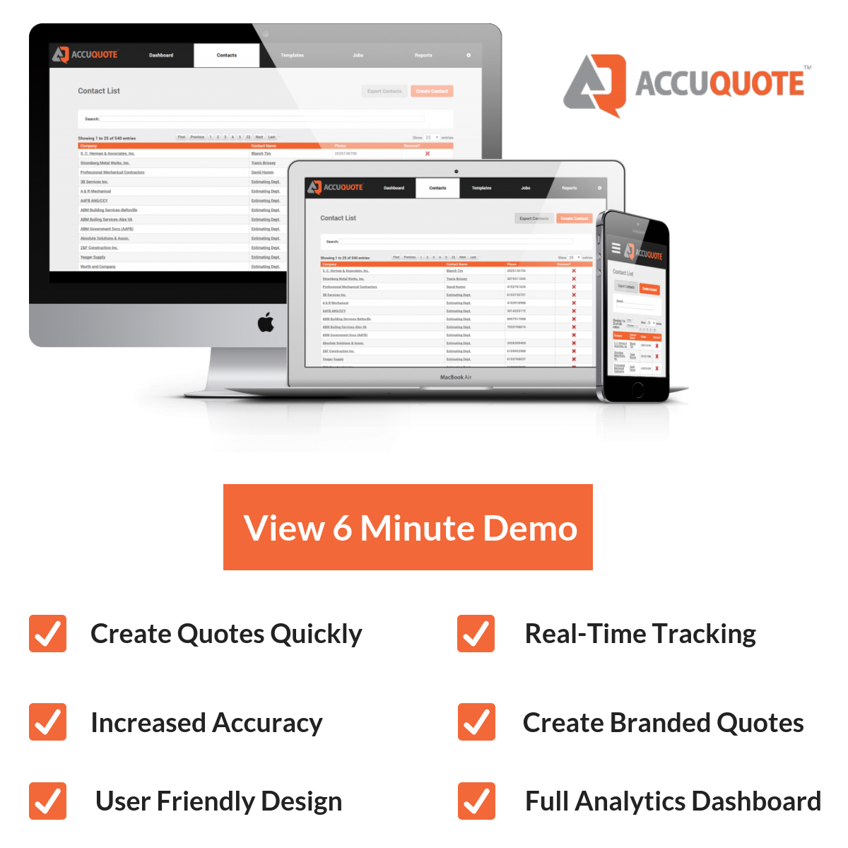 6 Min Demo image for Schedule a Demo - AccuQuote Direct